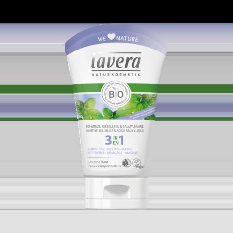 Lavera 3en1 Nettoyant gommage masque