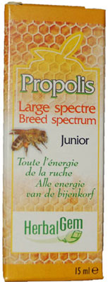 Propolis à large spectre Junior , 15 ml - Herbalgem