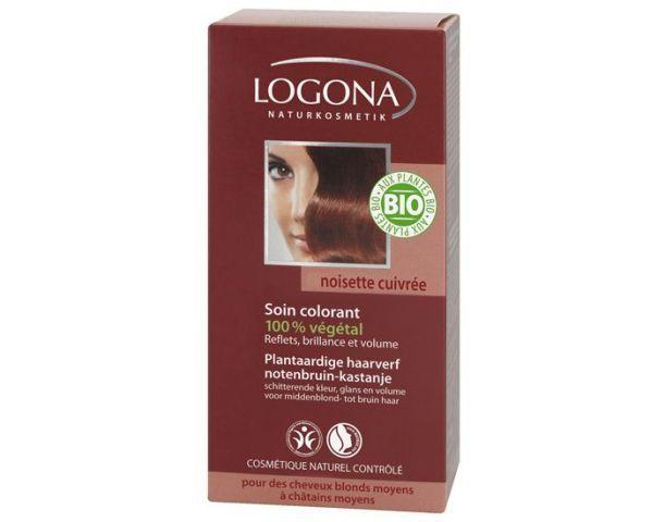 LOGONA Soin Colorant Végétal Noisette Cuivrée - 100 g